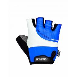 фото Перчатки велосипедные Atemi AGC-07. Цвет: синий. Размер: L