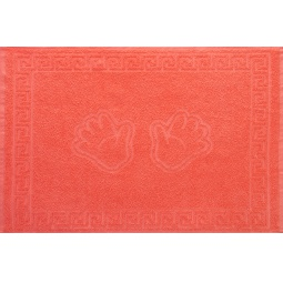 фото Полотенце махровое Asgabat Dokma Toplumy «Ручки». Размер: 50х70 см. Цвет: коралловый