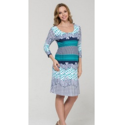 Купить Платье для беременных Nuova Vita 2107.11. Цвет: бирюзовый