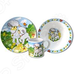 Набор посуды для детей Viconte VC-1204 «Овечки»
