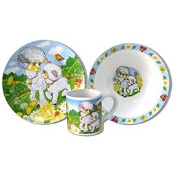 Купить Набор посуды для детей Viconte VC-1204 «Овечки»