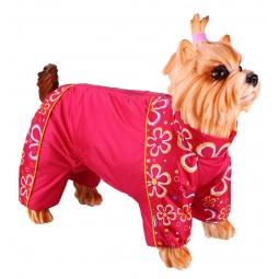 фото Комбинезон-дождевик для собак DEZZIE «Пекинес». Цвет: красный. Материал подкладки: флис
