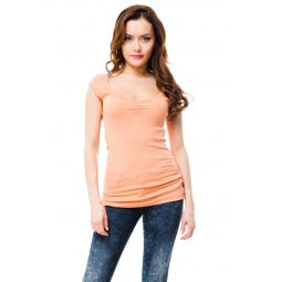 фото Футболка Mondigo 8614. Цвет: персиковый. Размер одежды: 46