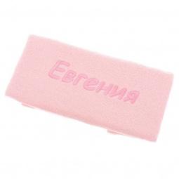 фото Полотенце подарочное с вышивкой TAC Евгения. Цвет: розовый