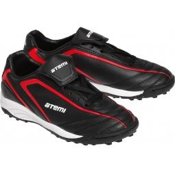 Купить Бутсы ATEMI SD500TF. Цвет: черный, красный