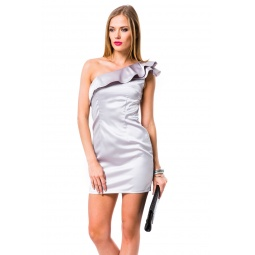 фото Платье Mondigo 9664. Цвет: серый. Размер одежды: 48