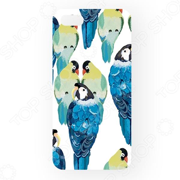 Чехол для iPhone 5 Mitya Veselkov «Попугаи» попугаи розелла фото москва