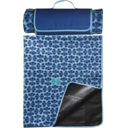 фото Плед флисовый Sagaform Happy Blanket. Цвет: синий