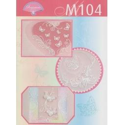 фото Набор схем для парчмента Pergamano M104 Бабочки
