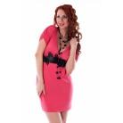 Фото Платье Mondigo 8610. Цвет: коралловый. Размер одежды: 42