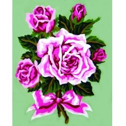 фото Канва с нанесенным рисунком Collection D'Art «Роза»