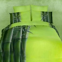 фото Комплект постельного белья Domomania Green Bamboo. Satin Fotoprint. 2-спальный