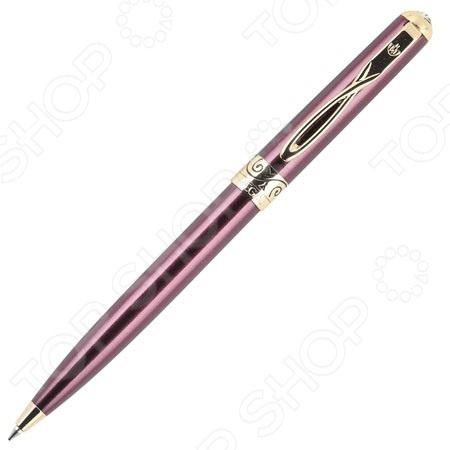 Ручка шариковая Erich Krause Regal 18 не просто станет отличным дополнением к набору ваших канцелярских принадлежностей, она заставит вас совершенно по-новому взглянуть на процесс письма в целом! Модель отличается стильным элегантным дизайном и превосходным качеством исполнения. Корпус ручки выполнен из металла и декорирован оригинальными позолоченными вставками. Имеется фигурное крепление на карман. В качестве заправки используются стержни для шариковых ручек.