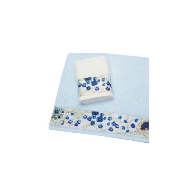 фото Полотенце махровое Романтика Сияние сапфиров. Размер: 35х70 см. Цвет: светло-голубой