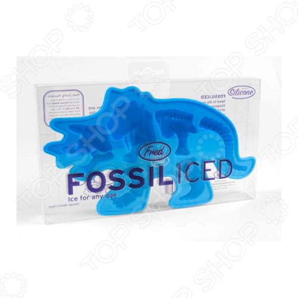 Форма для льда Fred&amp;amp;Friends Fossiliced синяяФормы для льда<br>Форма для льда Fred Friends Fossiliced синяя это оригинальный формочки для льда, которые точно удивят всех ваших знакомых и добавят вечеринке особую атмосферу. Лёд такой интересной формы может подойти как для сладких напитков, так и для алкогольных коктейлей. Форму можно заполнить не просто водой, а фруктовым соком или кофе, в итоге, вы получите дополнение для десерта или напитков. Перед использованием тщательно очистите форму от льда и положите в горячую воду, чтобы дезинфицировать поверхность. При необходимости используйте щадящие моющие средства для посуды. После использования следует тщательно очистить формочки, чтобы на них не скапливались инородные частички.<br>