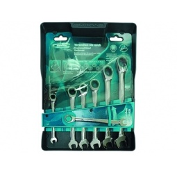 Купить Набор ключей комбинированных с трещоткой GROSS