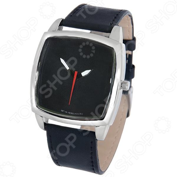 Часы наручные Mitya Veselkov «Строгий черный» часы настенные mitya veselkov пластинка цвет белый черный mvc nast 027