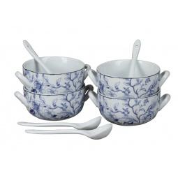 фото Набор суповых тарелок Rosenberg 9302. Рисунок: цветы