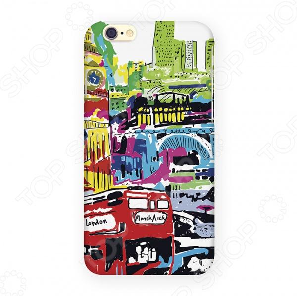 Чехол для iPhone 6 Mitya Veselkov «Лондон в красках» чехол для iphone 5 лондон сиреневый