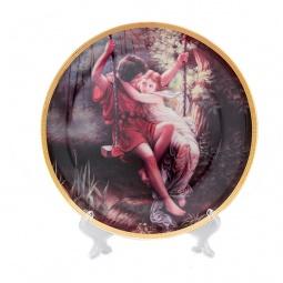 Купить Тарелка декоративная Elan Gallery «Влюбленные на качелях»