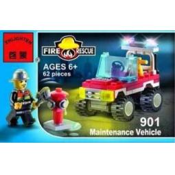 Купить Конструктор игровой для ребенка Brick «Машина пожарная» 901