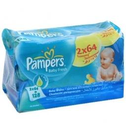 Купить Салфетки влажные - сменный блок PAMPERS Baby Fresh Duo