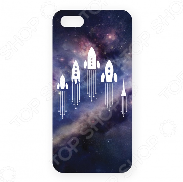 Чехол для iPhone 5 Mitya Veselkov «Ракеты в космосе»
