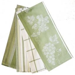 фото Комплект из 4-х полотенец BONITA «Виноград». Цвет: зеленый