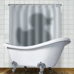 Купить Штора для ванной комнаты Mustard Shadow of the Duck
