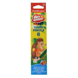 Купить Набор карандашей цветных Erich Krause Artberry: 6 цветов