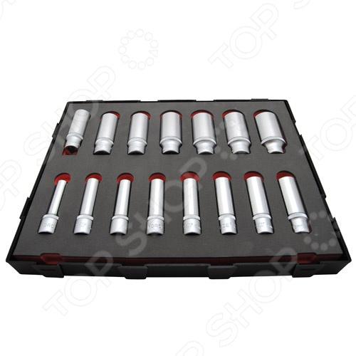 Набор торцевых головок Force F-K41513 набор торцевых головок jonnesway 3 8dr 6 22 мм и комбинированных ключей 7 17 мм 36 предметов