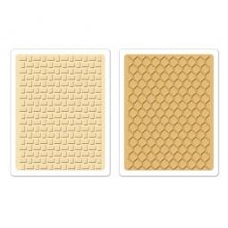 фото Набор форм для эмбоссирования Sizzix Textured Impressions Текстура корзинки и соты