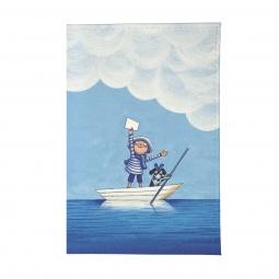 фото Обложка для паспорта Mitya Veselkov «Мальчик и собака в лодке»