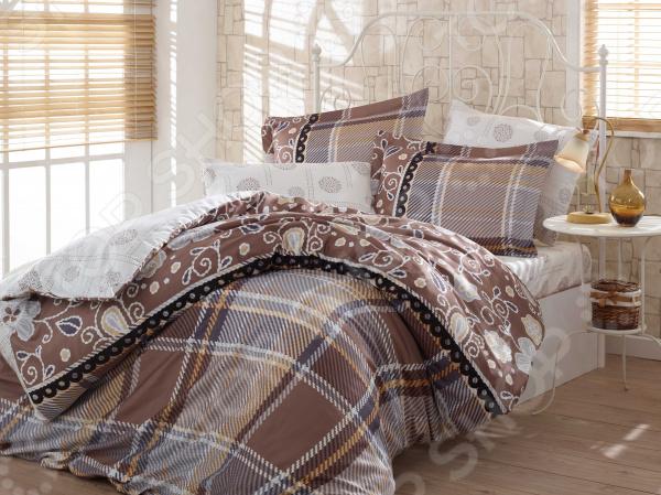 Комплект постельного белья Hobby Home Collection Monica. Цвет: коричневый. ЕвроЕвро<br>Здоровый и комфортный сон зависит не только от того насколько удобные и мягкие ваш матрас и подушка. Не в последнюю роль играет постельное белье, на котором вы спите каждый день. Очень важно при выборе постельного белья ориентироваться не только на его цену и яркий дизайн, но и на качество, и плотность, тип материала. Жесткие и плотные ткани, пусть даже и натуральные, не подходят для ежедневного использования, ведь они могут причинить коже удивительный дискомфорт, вызвав её покраснения и раздражения. На такой постели также часто образуются катышки, которые в конец портят внешний вид белья и ваше настроение. Постельное белье премиум качества! Комплект постельного белья Hobby Home Collection Monica. Цвет: коричневый роскошное, современное сатиновое постельное белье, которое покорит вас своей красотой, элегантностью, прочностью и изысканностью. Благодаря тому, что эта ткань изготавливается из натурального хлопкового материала комбинированного плетения, он сочетает в себе прочность, легкость и удивительную износоустойчивость! 90 переплетений нитей на один квадратный сантиметр делают сатин плотным. Эта ткань относится к категории премиум тканей и носит название хлопкового шелка , поэтому идеально подходит для повседневного использования. Белье из такой ткани имеет благородный блеск, утонченный внешний вид и дарит приятные прикосновения.  Выбирайте для вашего дома только самое лучшее! Этот комплект постельного белья обладает рядом достоинств, которые вы сможете высоко оценить:  сатиновое постельное белье не электризуется и практически не мнется;  за счет шероховатой поверхности изнаночной стороны не скользит по кровати;  плотное переплетение крученых нитей позволяет белью сохранить свою первоначальную форму даже после многочисленных стирок;  прекрасно пропускает воздух и впитывает влагу;  натуральные хлопковые волокна являются неблагоприятной средой для размножения пылевых клещей и гриб