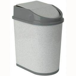 фото Контейнер для мусора с качающейся крышкой IDEA М 2481. Цвет: белый