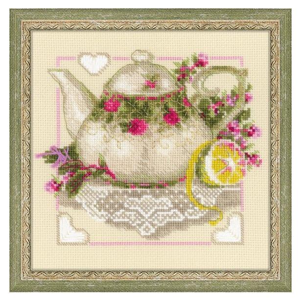 фото Набор для вышивания крестиком Сотвори Сама «Чай с лимоном»