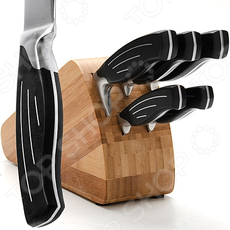 Набор ножей Mayer&amp;amp;Boch MB-23790Ножи<br>Набор ножей Mayer Boch MB-23790 практичное и незаменимое приобретение для вашей кухни. В комплект входят 5 ножей: нож поварской 20,3 см , разделочный нож 20,3 см , нож для хлеба 20,3 см , универсальный нож 12,7 , нож для очистки 8,9 см . Теперь вы сможете без труда выполнять любой вид кухонных работ: нарезать или измельчать овощи или фрукты, разделывать и нарезать мясо, рыбу. Острые лезвия и удобные эргономичные ручки сделают работу с этими ножами ещё проще и приятнее. Лезвия выполнены из высококачественной нержавеющей стали, которая гарантирует долговечность и прекрасные эксплуатационные характеристики изделия. Эргономичные рукоятки из АБС пластика со стальными вставками обеспечивают комфортный хват ножей. Прочные и надежные изделия обладают стильным современным дизайном, который придется по душе даже самой требовательной хозяйке. Оригинальная бамбуковая подставка обеспечит компактное и организованное хранение набора. Готовьте быстро и вкусно с набором ножей Mayer Boch MB-23790!<br>