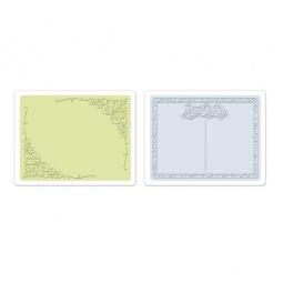 фото Форма для эмбоссирования Sizzix Textured Impressions Цветение и открытка