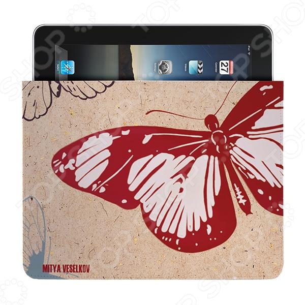 Чехол для iPad Mitya Veselkov «Цветные бабочки» цена и фото