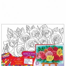 фото Набор для росписи по холсту Росмэн «Розы»