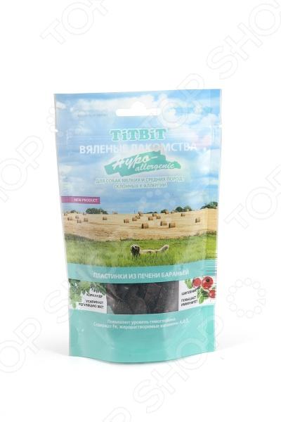 Лакомство для собак TiTBiT 3879 Hypoallergenic «Пластинки из печени бараньей»