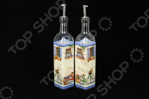 Набор емкостей для масла и уксуса Rosenberg 62519 набор else palermo для масла уксуса и специй 5 предметов