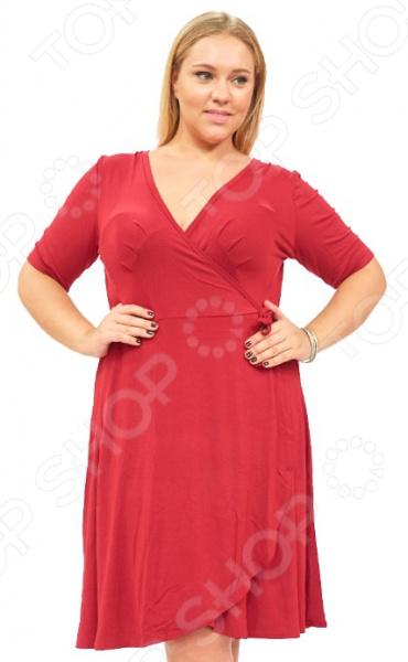 Платье Матекс «Легкое мгновение». Цвет: бордовыйПовседневные платья<br>Платье Матекс Легкое мгновение это легкое платье, которое поможет вам создавать невероятные образы, всегда оставаясь женственной и утонченной. Благодаря свободному крою оно скроет недостатки фигуры и подчеркнет достоинства. В этом платье вы будете чувствовать себя блистательно в любой ситуации. Женственная длина ниже колена великолепно подойдет для любого типа фигуры. Можно отметить следующие преимущества:  Длина чуть ниже колена.  V-образный вырез горловины удлиняет шею и помогает области декольте выглядеть роскошно и соблазнительно.  Короткие рукава из шифона, которые могут скрыть несовершенства в области плеч.  Внутри завязки, снаружи пришит пояс. Платье изготовлено из мягкой ткани 95 вискоза, 5 полиэстер , благодаря чему материал не скатывается и не линяет после стирки. Даже после длительных стирок и использования платье будет выглядеть прекрасно.<br>