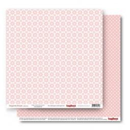 фото Бумага для скрапбукинга двусторонняя ScrapBerry's «Ромашки. Розовый кварц»