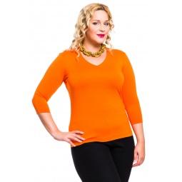 фото Кофта Mondigo XL 052. Цвет: оранжевый. Размер одежды: 52