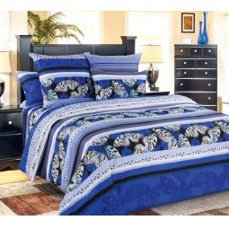 фото Комплект постельного белья Белиссимо «Мистика». 2-спальный. Цвет: синий