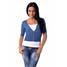 фото Жакет Mondigo 9827. Цвет: джинсовый. Размер одежды: 46