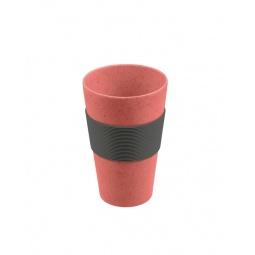 фото Стакан для горячих напитков Lurch с защитной накладкой. Цвет: вишневый