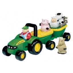 фото Машинка игрушечная Tomy с животными «Веселый трактор»