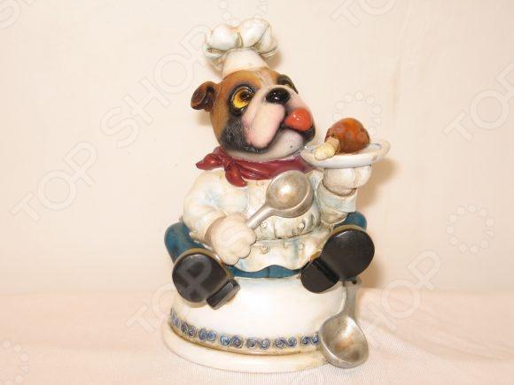 Копилка Shantou Gepai «Собака-повар с тарелкой»